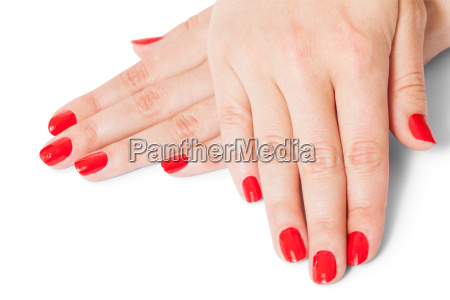 manos de mujer con los dedos