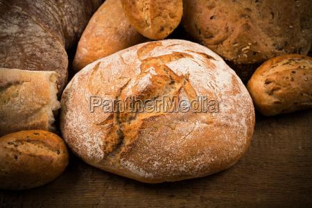 close up de pan tradicional