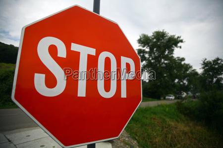 senyal de parada roja