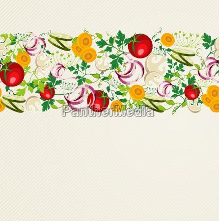 patron de alimentos organicos saludables