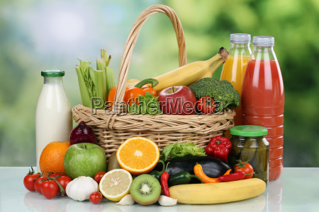 frutas verduras bebidas compras de alimentos