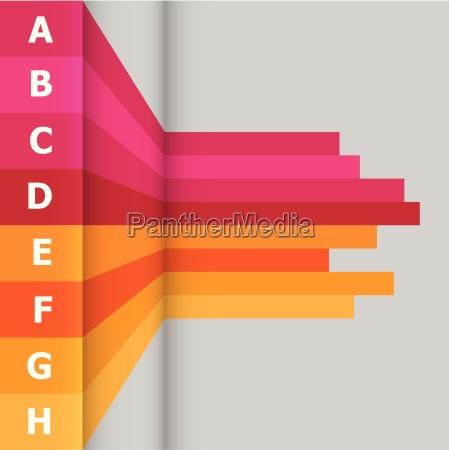 banner horizontal con lineas coloridas
