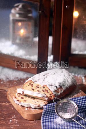 pan de molde de navidad en