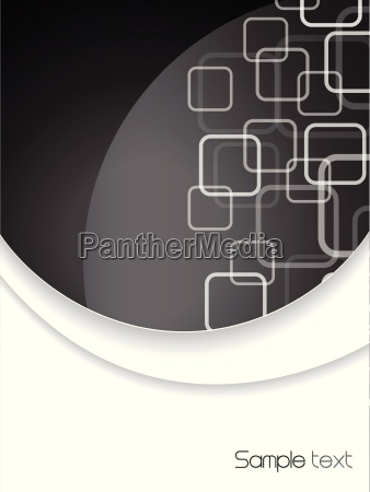 abstract brochure in black and white