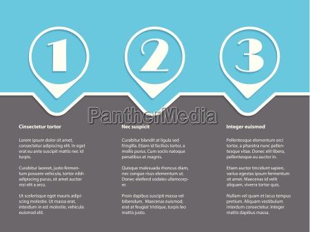 infografia simple con grados de blanco