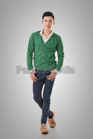 handsome young asian man