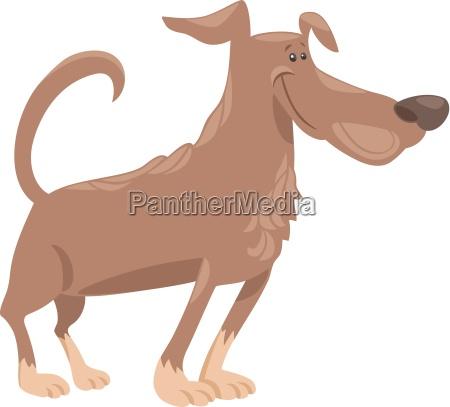ilustracion de dibujos animados perro divertido