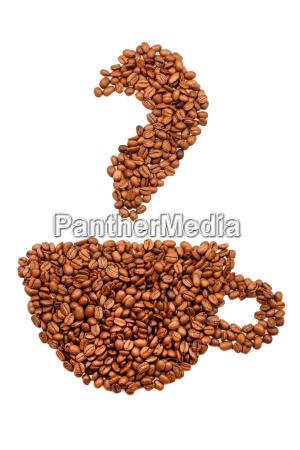 taza de cafe hecha de granos