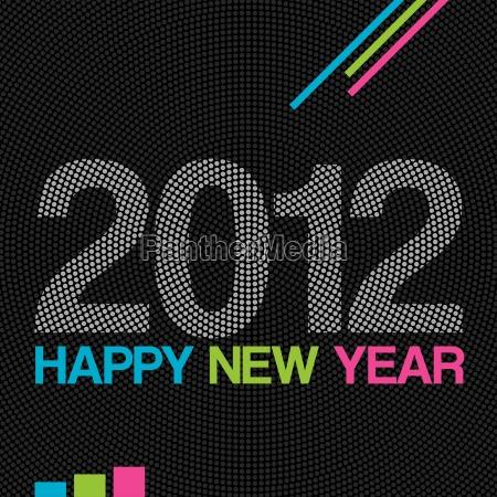 2012 happy new year modern background