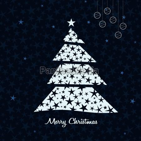 white christmas tree background vector