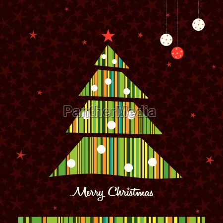 green stripes christmas tree background vector