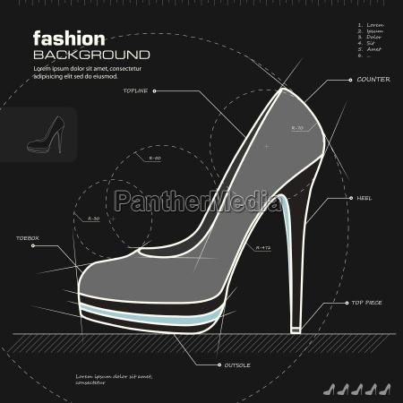 disenyo de calzado mujer vector