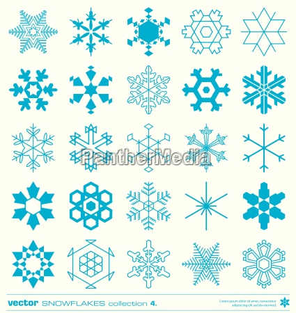 snowflakes christmas winter crystals collection object