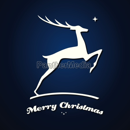 christmas card with deer vector illustration