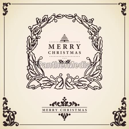 vector de tarjeta de navidad guirnalda