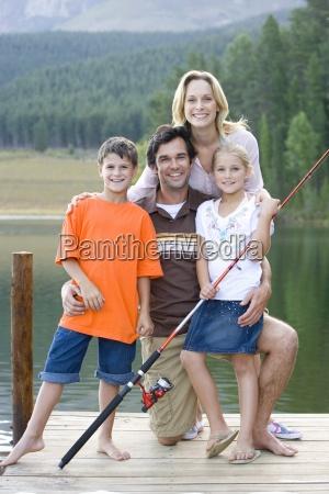 familia de cuatro con canya de