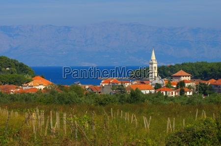 ciudad adriatico croacia de agua salada