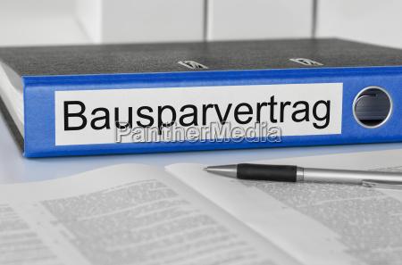 carpetas de archivos etiquetados bausparvertrag