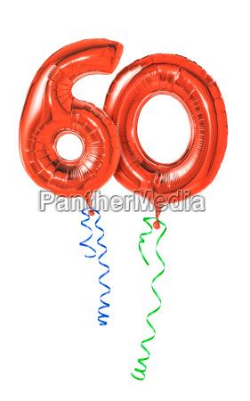 globos rojos con la cinta