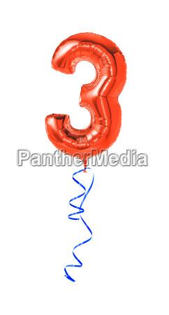 globo rojo con la cinta