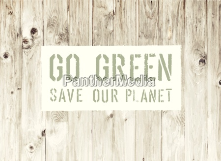 ir verde abstracta ecologia cartel