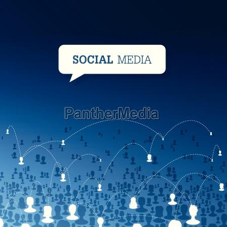 concepto de comunicacion social vector