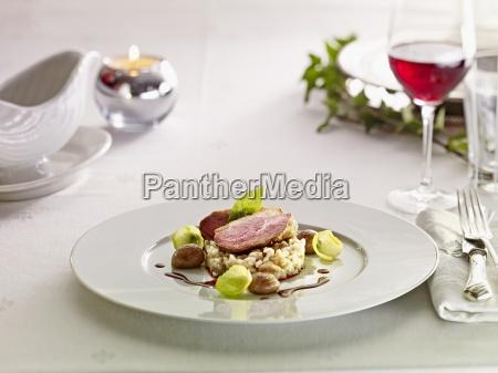 comida interior cocina vegetal aves de