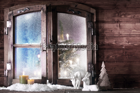 decoraciones de navidad en el panel