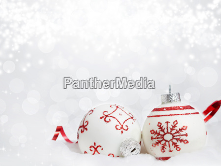 fondo de navidad con adornos de