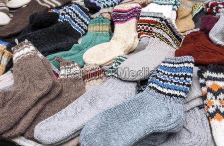 calcetines de lana coloridos