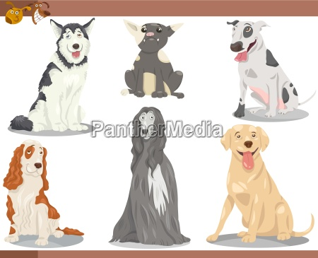 perro reproduce la ilustracion de dibujos