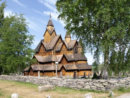 heddal stave church en noruega noruega