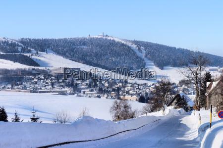 sajonia erzgebirge paisaje de invierno tierras