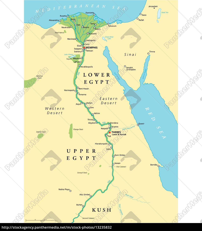 Mapa De Egipto Antiguo.Vector Libre De Derechos 13235832 Mapa De Egipto Antiguo