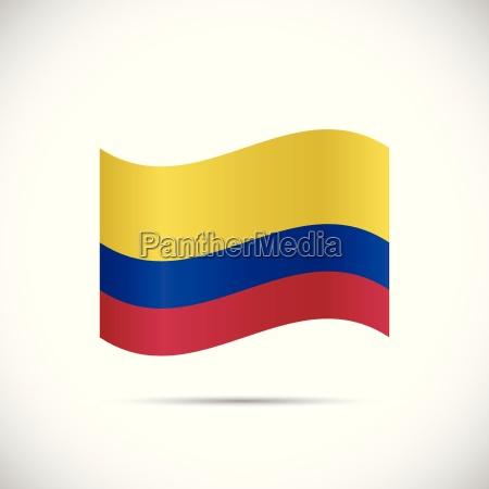 ilustracion de la bandera de colombia