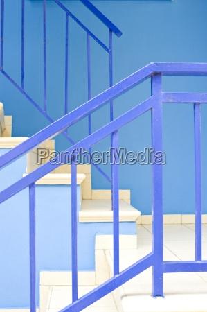 azul escalera grecia marmol metal forma
