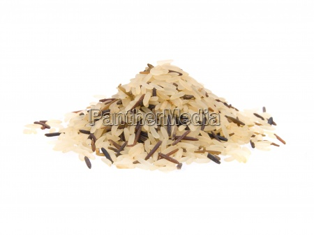 primer plano de arroz largo mezclado