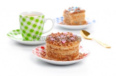 torta de cafe del postre dulce