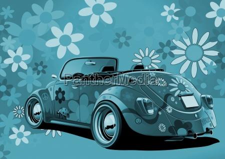 hippie beetle convertible bunt