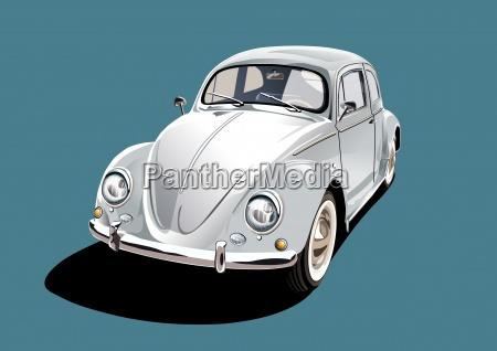 white classic car