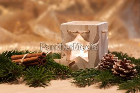 decoracion de mesa de navidad luz