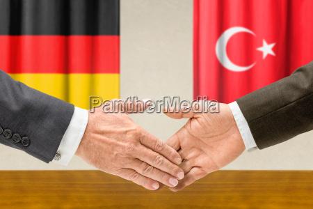 alemania pavo manos bandera politico cooperacion