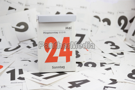 pfingstmontag tear off calendar
