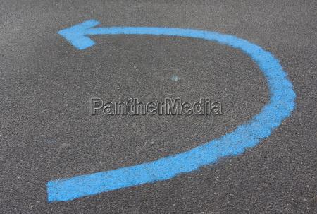 senyal direccion ver poste indicador marca