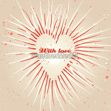 vintage grungy heart background vector
