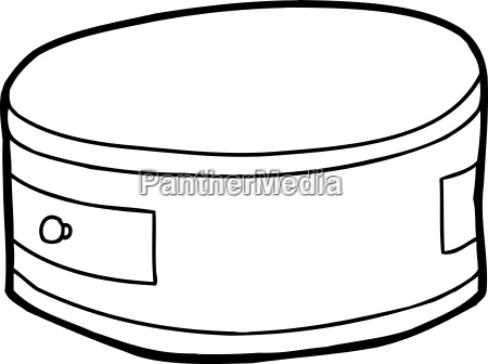 muebles cortar dibujos animados cilindrico partido