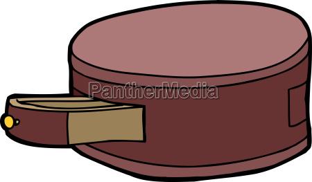 cajon cortar dibujos animados cilindrico rebanada