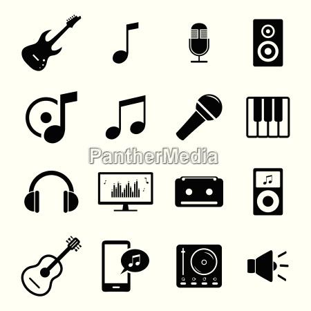 coleccion de iconos de medios planos