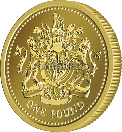 vector britanica monedas de oro moneda