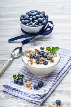 yogur de arandanos con muesli